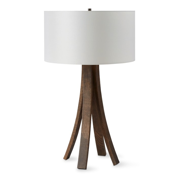 Rob and Lydia Mondavi Wine Barrel Stave Table Lamp